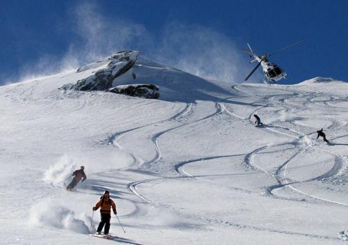 Heli-skiing or boarding